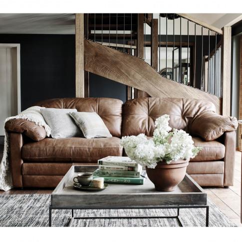 Alexander & James Bailey 3 Seater Leather Sofa