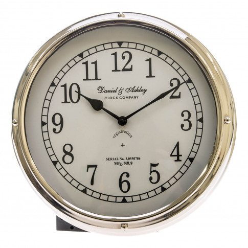 Casa Daniel & Ashley Porthole Wall Clock, Silver