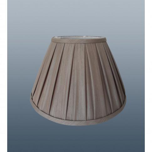 "14"" Enya Box Pleat Lamp Shade, Mink"