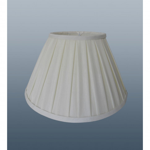 "18"" Enya Box Pleat Lamp Shade, Cream"