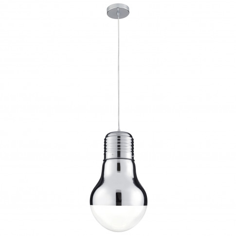 Searchlight Neo Single Pendant Light, Chrome