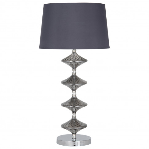 Gabby Glass Table Lamp, Grey