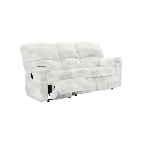 G Plan Chloe 3 Seater Left Power Recliner Fabric Sofa