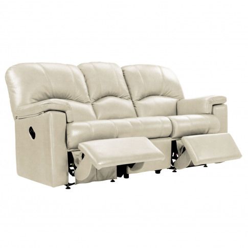 G Plan Chloe 3 Seater Double Manual Recliner Leather...