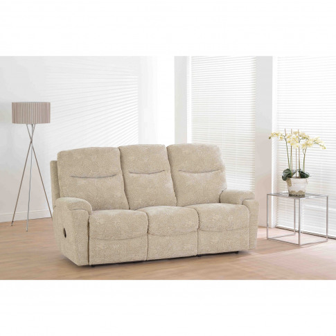 Casa Worcester 3 Seater Recliner Fabric Sofa, Oatmeal