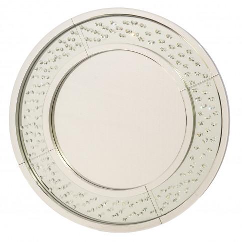 Casa Crystal Mirror, Silver