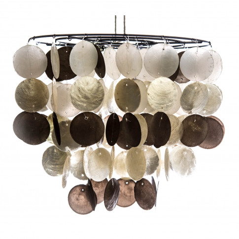 Capiz Shell Tiered Ceiling Shade, Champagne Mix