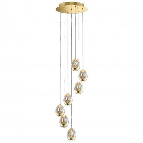 Eden 7 Light Spiral Pendant, Champagne
