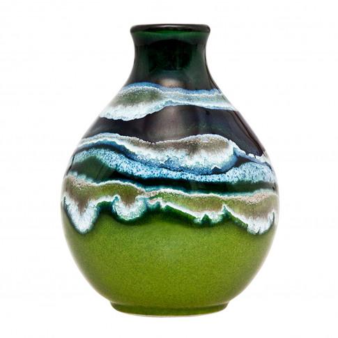 Poole Pottery Maya Bud Vase 12cm, Green/Blue
