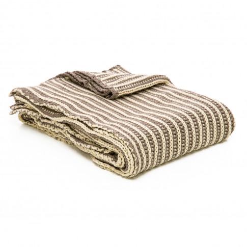 Casa Two Tone Tinke Knit Throw, Beige