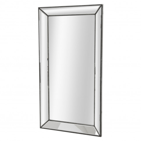 Casa Beaded Mirror, Silver