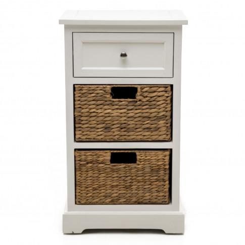 Casa 1 Drawer/2 Basket Sideboard, White/Natural