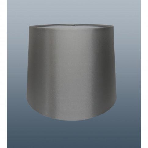 "10"" Empire Silk  Lamp Shade, Silver"