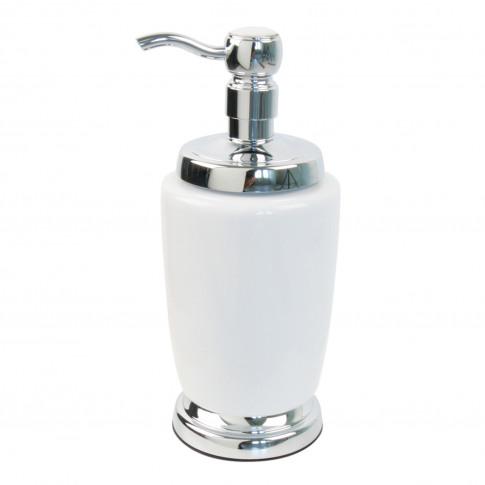 Miller Ceramic Soap Dispenser, White/Chrome