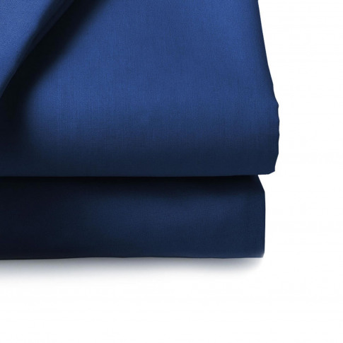 Belledorm 200 Thread Count Fitted Sheet, King , Navy