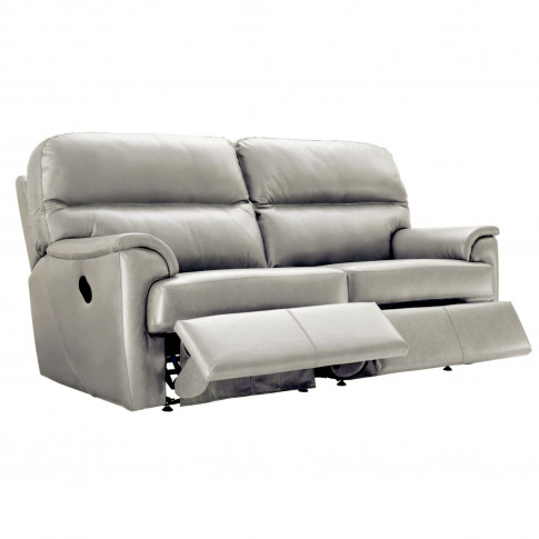 G Plan Watson 3 Seater Double Power Recliner Leather Sofa