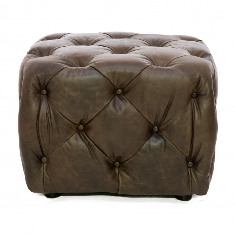Alexander & James Button Small Leather Footstool
