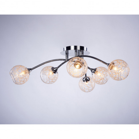 Casa Pattern Ball 6 Light, Chrome