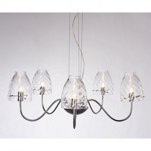 Casa Cut Glass 5 Light, Chrome
