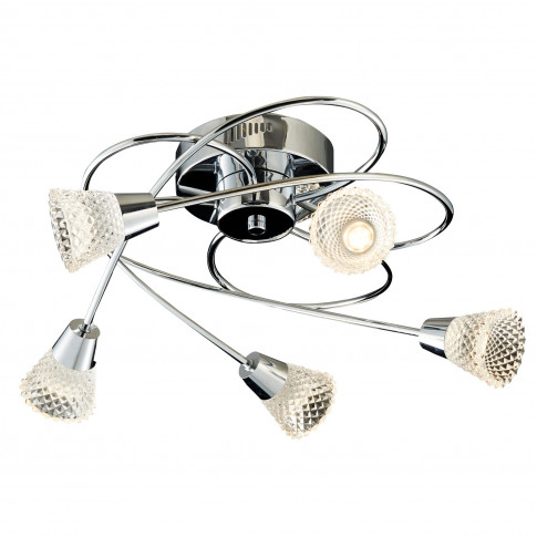 Casa Basket Weave 5 Light, Chrome
