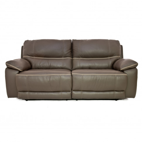 Casa Piper 3 Seater Manual Recliner Leather Sofa