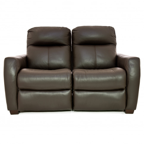 Casa Fraser 2 Seater Power Recliner Leather Sofa