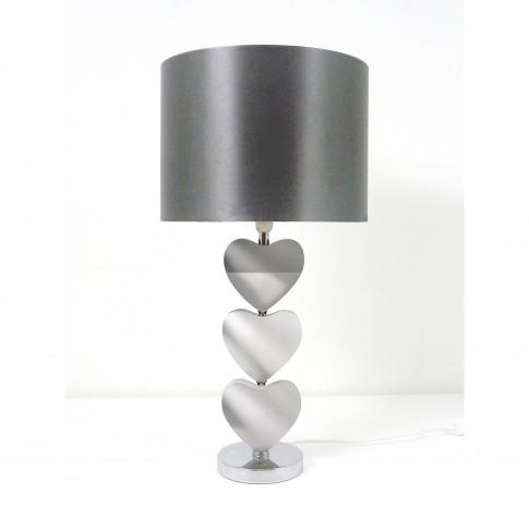 Casa Rhea Heart Table Lamp, Mirror