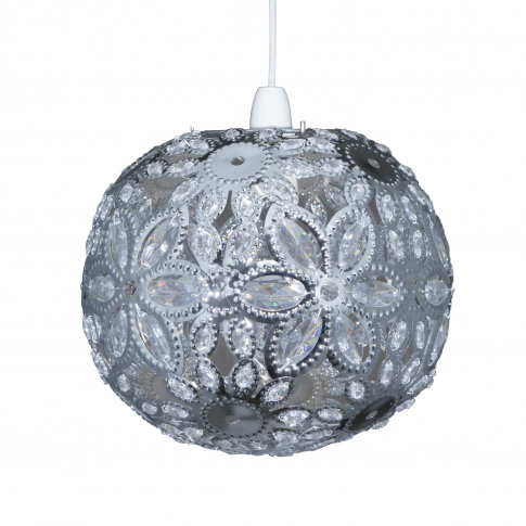 Casa Ashanti Floral Ball Ceiling Shade, Chrome