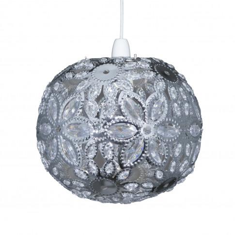 Casa Ashanti Floral Ball Ceiling Shade, Chrome
