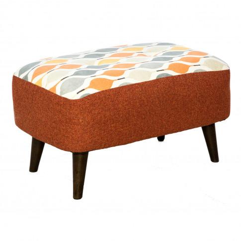 Casa Selborne Cuddler Fabric Footstool