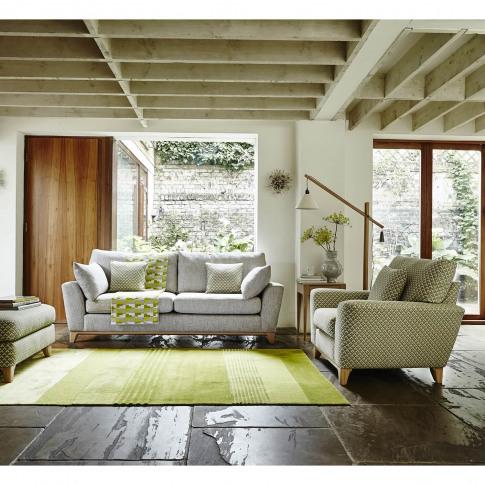 Ercol Novara Large 3 Seater Fabric Sofa