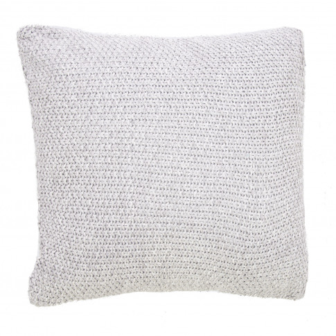Casa Moss Stitch Cushion, Grey Marl