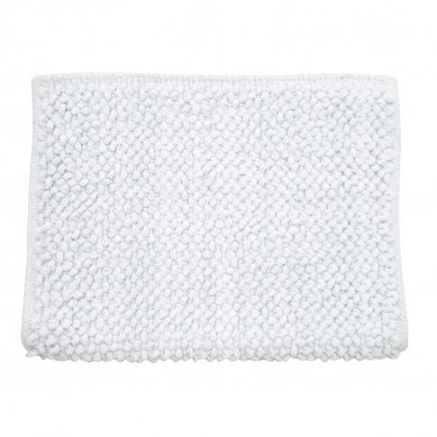 Casa Micro Lurex Sparkle Bath Mat, White/Silver