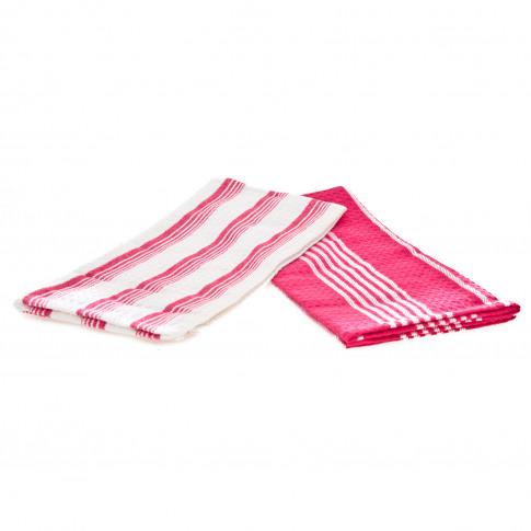 Casa Set 2 Tea Towels  50x70cm, Fuschia