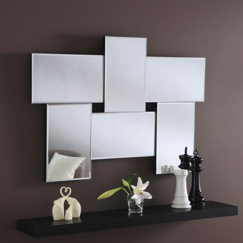 Casa Small Collage Mirror, Silver