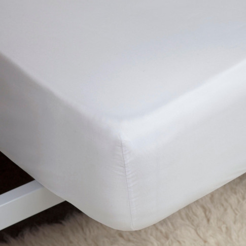 Belledorm 400 Thread Count Egyptian Cotton Fitted Sheet, Double, White