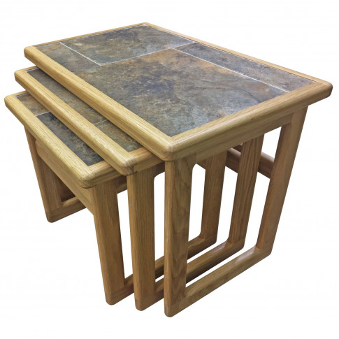 Casa Autumn Tile Top Small Nest Of Tables