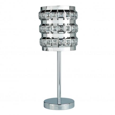 Casa Crystal Natalie Bead Table Lamp, Chrome