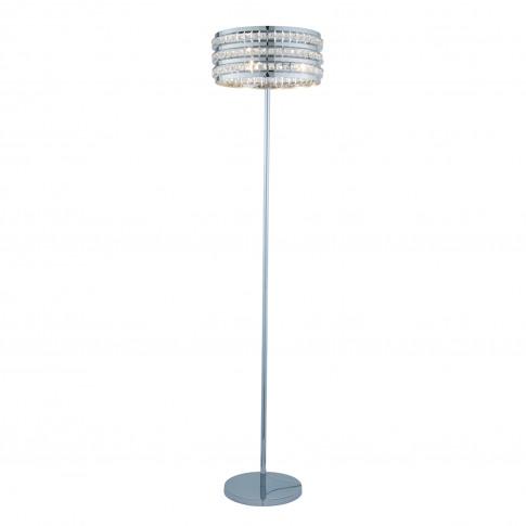 Casa Natalie Crystal Bead Floor Lamp, Chrome