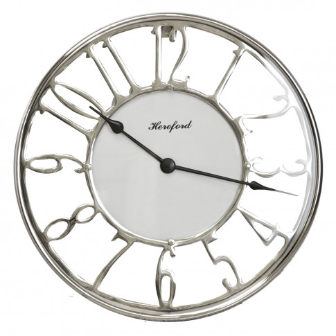 Hereford Wall Clock, Silver