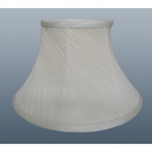 "8"" Twisted Pleat Lamp Shade, Cream"