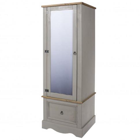 Connor Armoire Mirrored Door Wardrobe