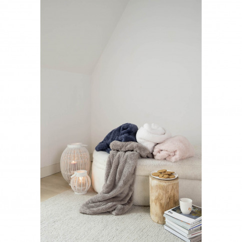 Mistral Sherpa Throw, Ecru