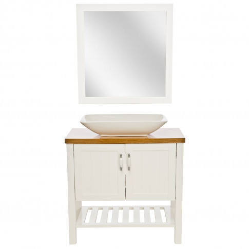 Casa New England 2 Door Vanity Unit & Sink, White
