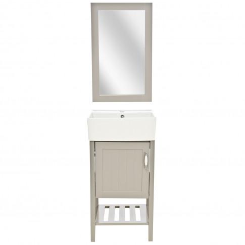 Casa New England 1 Door Vanity Unit & Sink, Grey