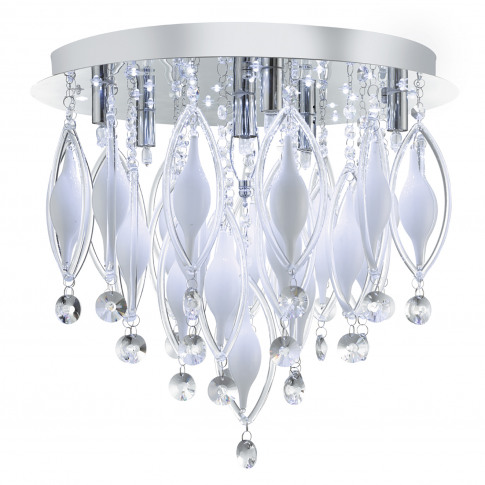 Searchlight  Spindle 6 Light Flush Ceiling, Chrome