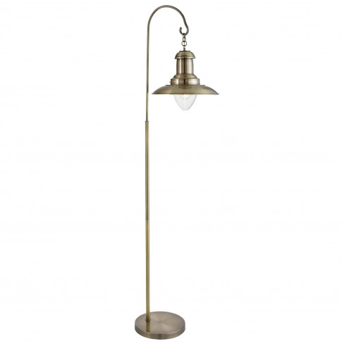 Searchlight  Fisherman Floor Lamp, Antique Brass