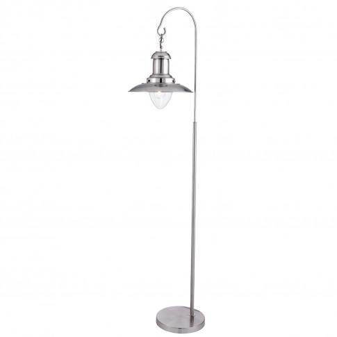 Searchlight  Fisherman Floor Lamp, Satin Silver