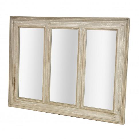 Casa Brown Ash 3 Part Mirror, Brown Ash With Gold