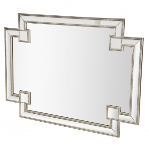Casa Art Deco Wall Mirror, Silver